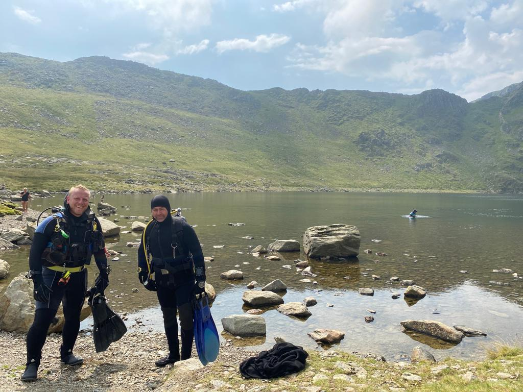 Altitude Diving in Red Tarn - Englands highest lake